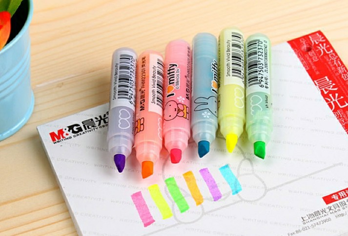 Free Shipping/New cute mify Rabbit DIY Multifunction fluorescent pen/Color Highlighter marker/Wholesale<br><br>Aliexpress