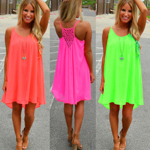 Summer dress 2015 chiffon female women dress summer style vestido de festa sundress plus size women