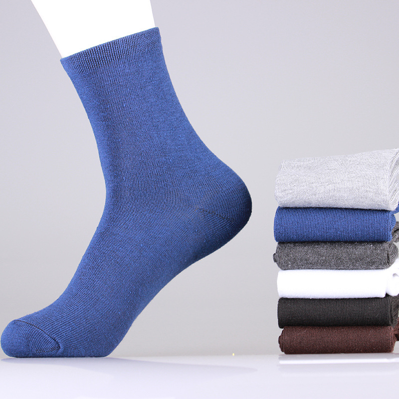 Meia Masculina 2015 New Arrive 5 Pair/lot Men's Cotton Socks Autumn And Winter Solid Color Business Boutique Free Shipping Free(China (Mainland))