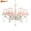 HGHomeart European Pastoral Chandeliers LED Lustre Design Chandelier Lamp Suspension Living Room Crystals Light Home Lighting