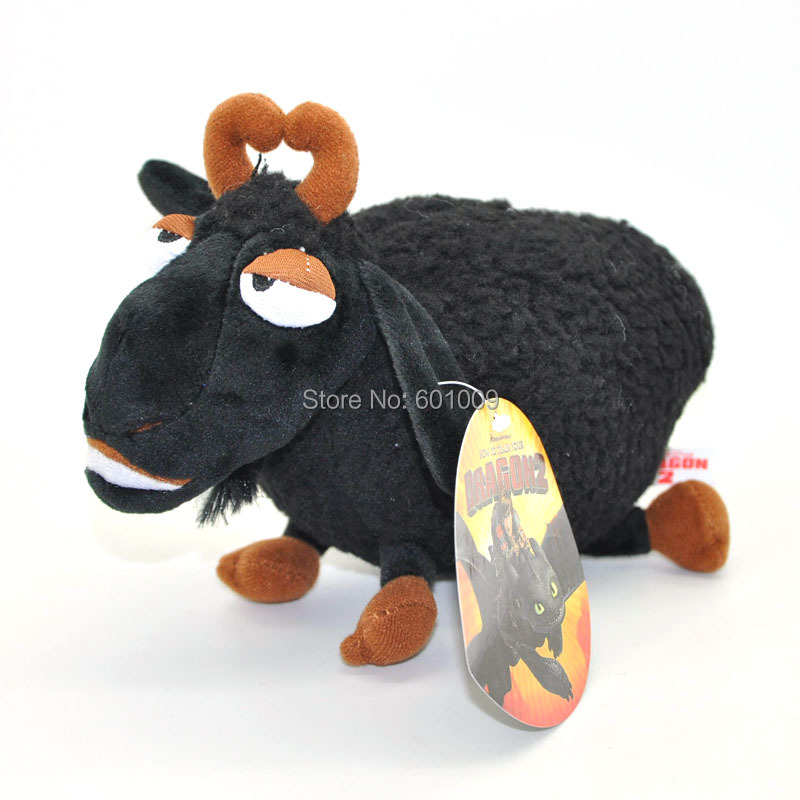 "Free Shipping EMS 30/Lot How To Train Your Dragon Toothless Black Sheep Plush Toy Doll 8""(China (Mainland))"
