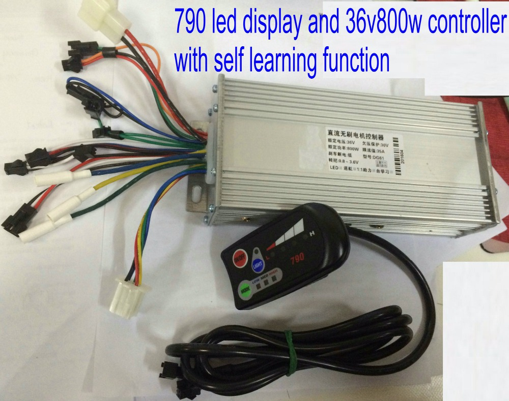 36v48v800w1000w controller&display group control panel 790 light switch &battery level indicator electric bike scooter part - phoebe vehicle and parts store