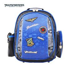 Transformers schoolbag 1 - 4 grade boy child care burdens schoolbag ridge aristocratic custom reflective tape(China (Mainland))