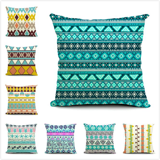 kreative sofa autositz dekorative quadrat leinen baumwolle gedruckt werfen kissen kissen fall. Black Bedroom Furniture Sets. Home Design Ideas