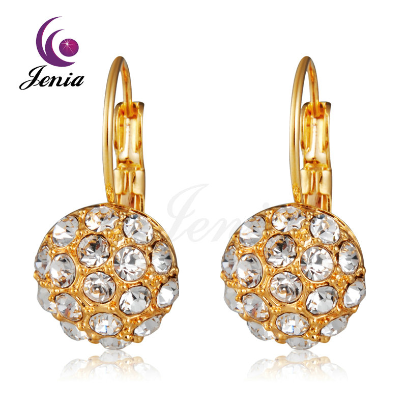 Jenia fashion hoop earrings high end exclusive austrian for High end gifts for women
