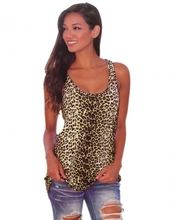 2015 Sexy Women Sleeveless O-neck Leopard Print Tank tops Plus size S-XL 31(China (Mainland))