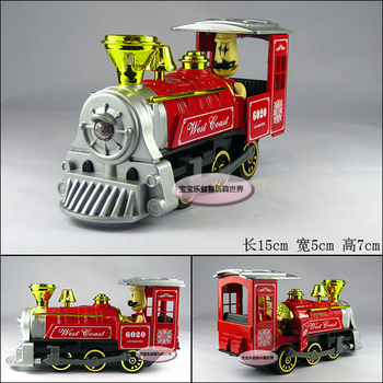 toy model red alloy steam train locomotive model toy free air mail