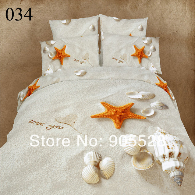 2013 100% quality 3d three-dimensional oil painting bedding swan lake peacock seagull 100% cotton duvet cover bedrug 4 pcs set