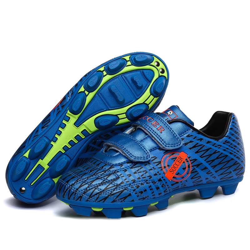 Kids boys football shoes classical version zapatillas futbol kids pu rubber soccer football boots for training cleats(China (Mainland))