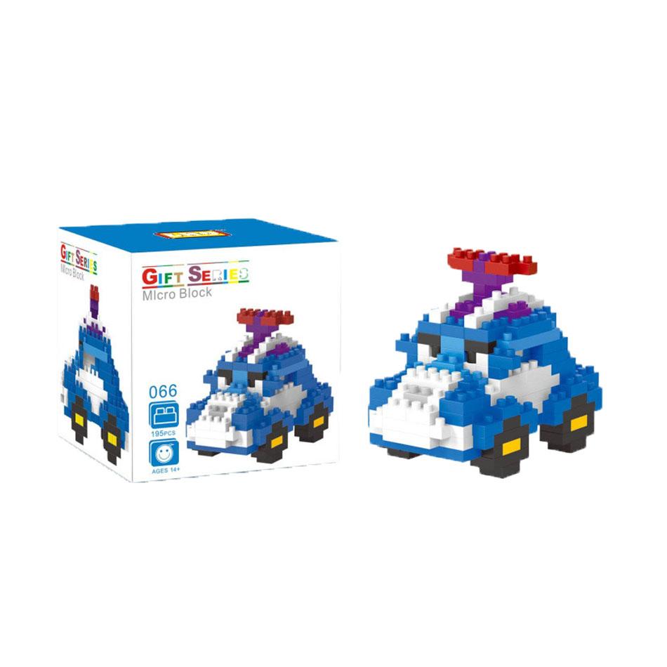 Blue CAR Cartoon car minifigures minecraft building Blocks Children Birthday Education Toy Doll Kids Toys Action 0833(China (Mainland))