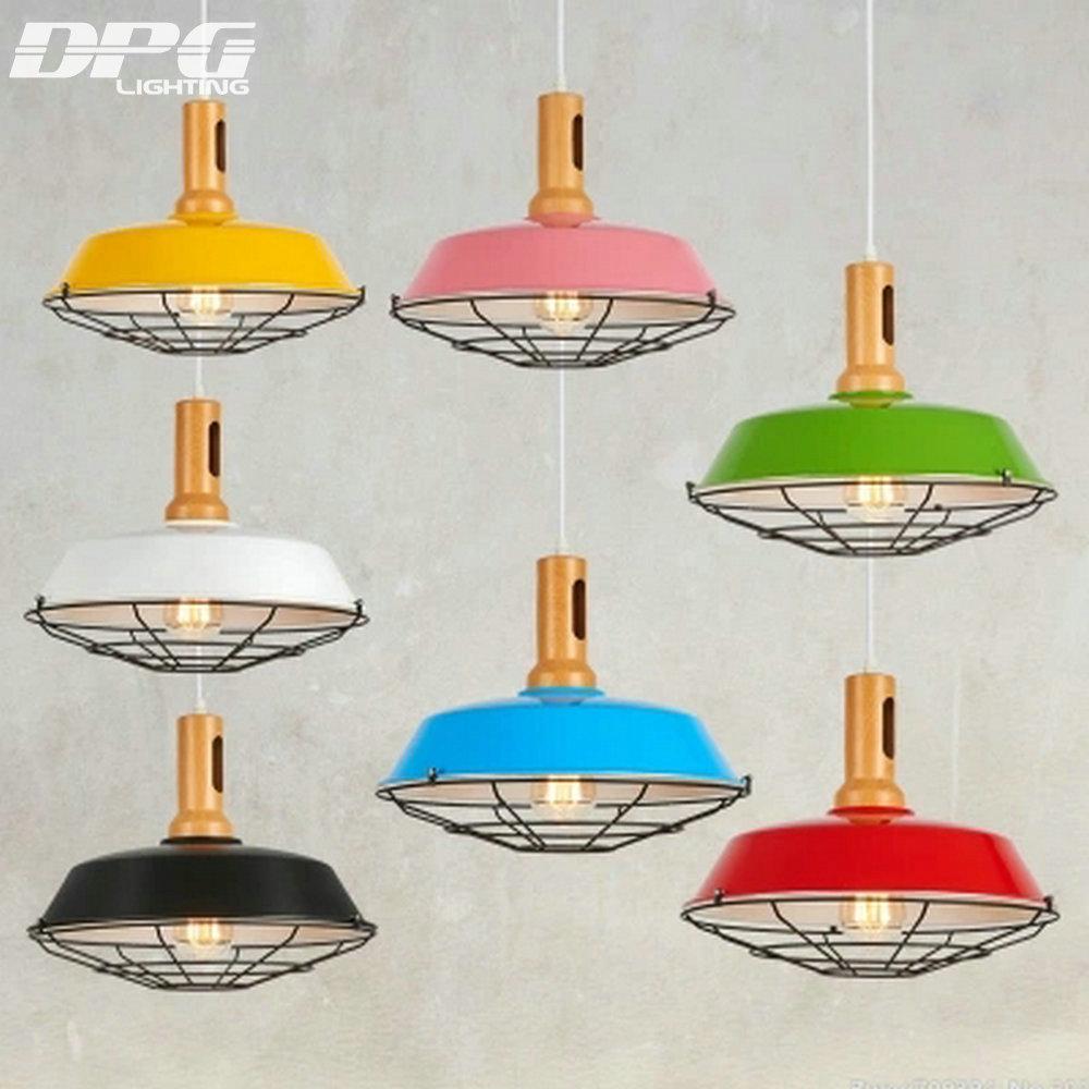 vintage rustic metal lampshade edison pendant lamp lights. Black Bedroom Furniture Sets. Home Design Ideas