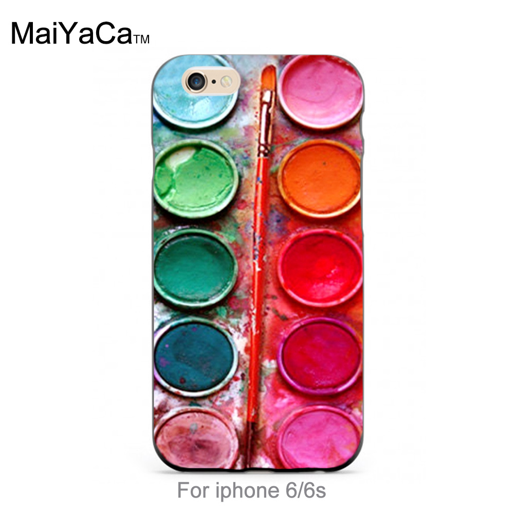 Luxury Fashion 3D Phone Case Colorful Paintings Paint Palette Protective Cover popular case for iPhone 6 6s case(China (Mainland))