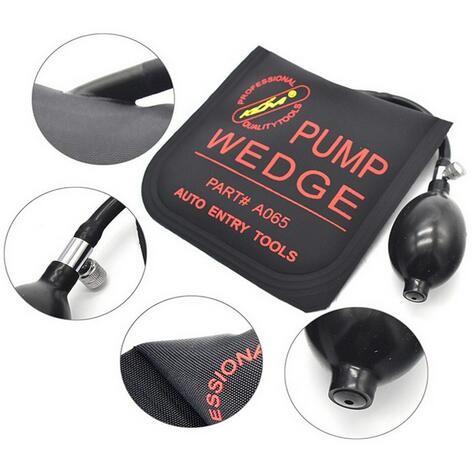 2016 Original Klom PUMP WEDGE LOCKSMITH TOOLS Auto Air Wedge Airbag Lock Pick Set Open Car Door Lock Black S/M/L/U 4pcs/lot(China (Mainland))