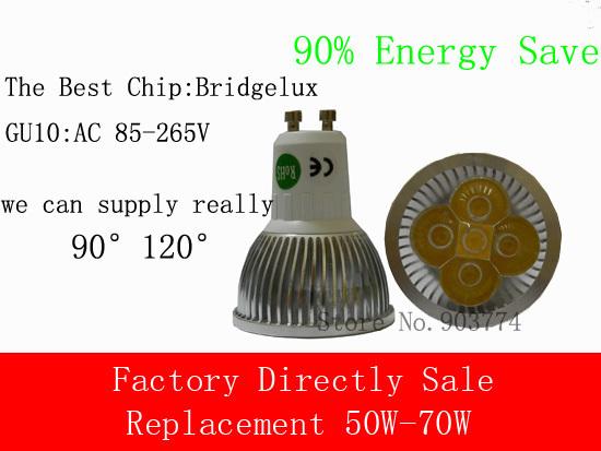 4pcs/lot Free shipping Dimmable 10W E14 MR16 GU10 E27 B22 GU5.3 High Power LED Light Bulb LED Lamp Spotlight Downlight(China (Mainland))