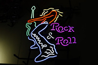 """MN66 Rock Roll Guitar neon sign lights 19""""x15"""" for store display /party lights/advertising/art.(China (Mainland))"""