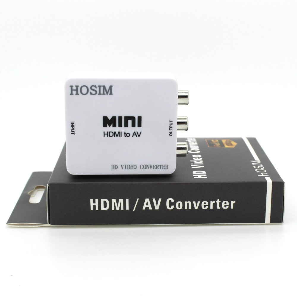 Hosim HDMI2AV Mini 720p 1080p HDMI to 3RCA Audio Video AV CVBS Adapter Convert HD TV PS3 CRT(China (Mainland))