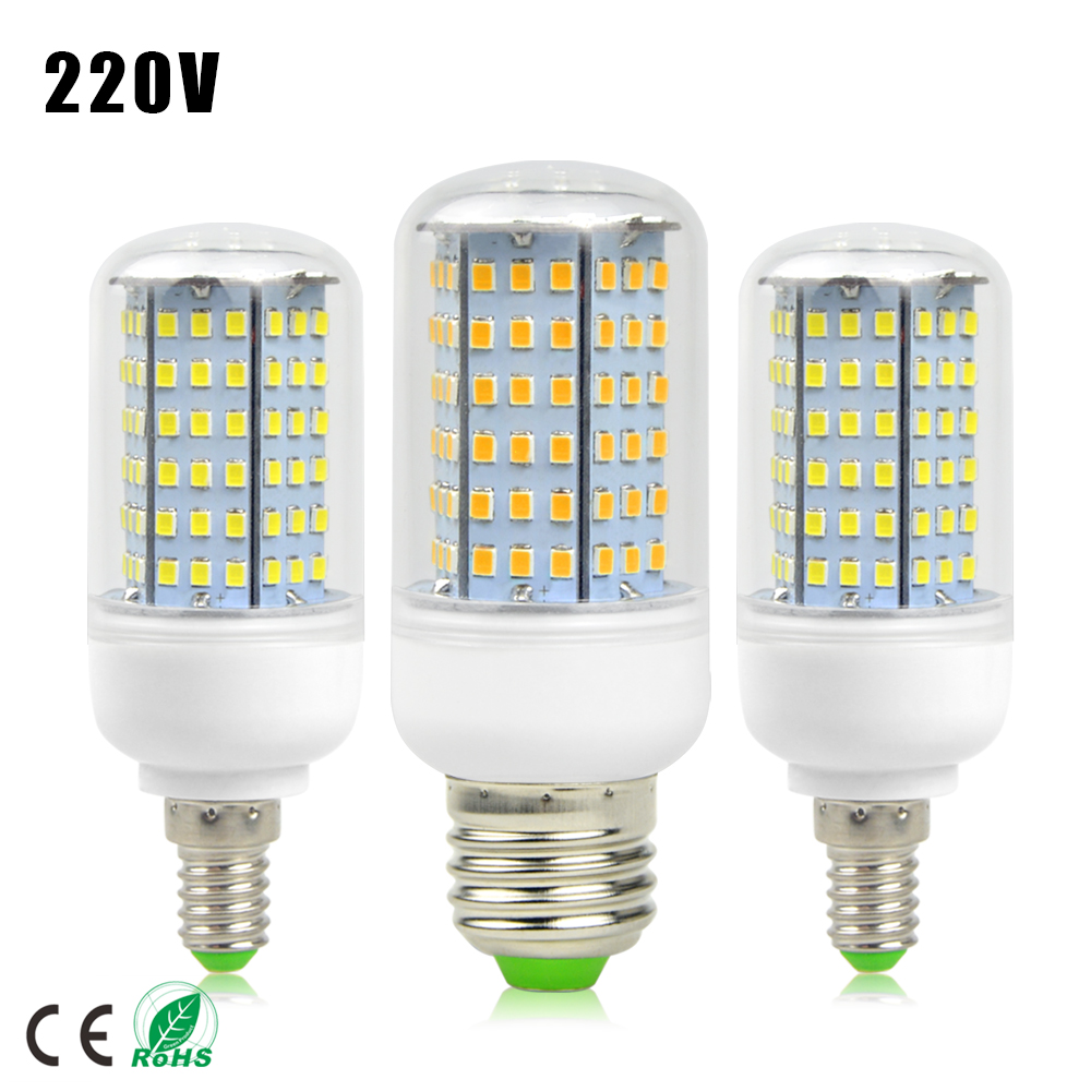 Super Bright E27 E14 220v Led Lamp 2835 Smd 126 Leds Spotlight Bulb Replace Incandescent Bulbs