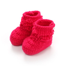 Buy Brand New Soft Bottom Baby Boots Candy Color Knitting Baby Shoes Cotton Infant Toddler Baby Boys Girls Boots Free for $3.78 in AliExpress store