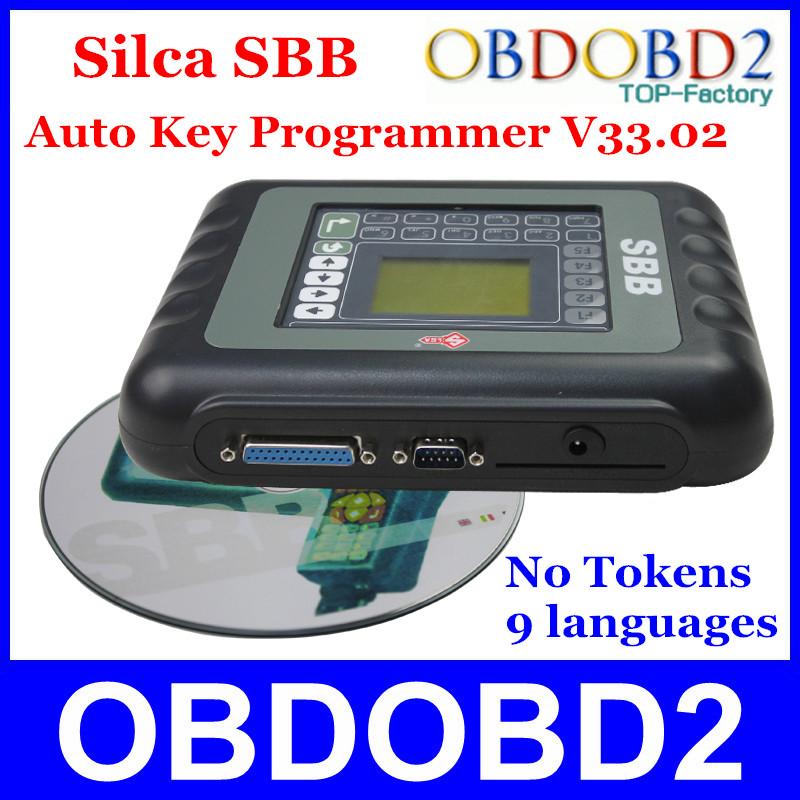 Newest SBB Silca V33.02 SBB Key Programmer Immobilizer For Multi Brand Cars No Need Tokens 9 Languages Key Maker Transponder(China (Mainland))