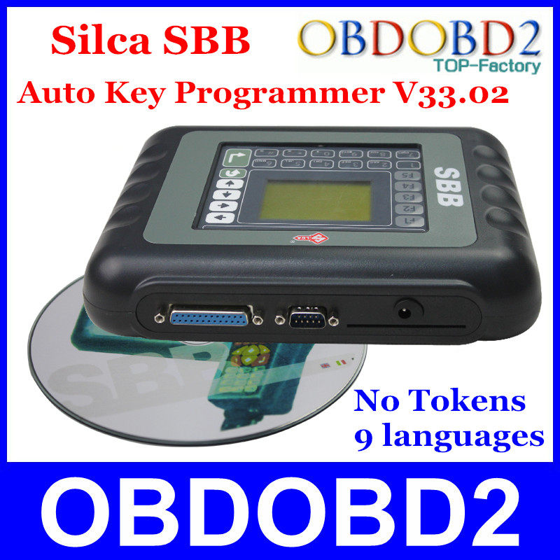 Newest SBB Silca Key Programmer V33.02 SBB Immobilizer Key Pro Maker Transponder For Multi Brand Cars No Need Tokens 9 Languages(China (Mainland))