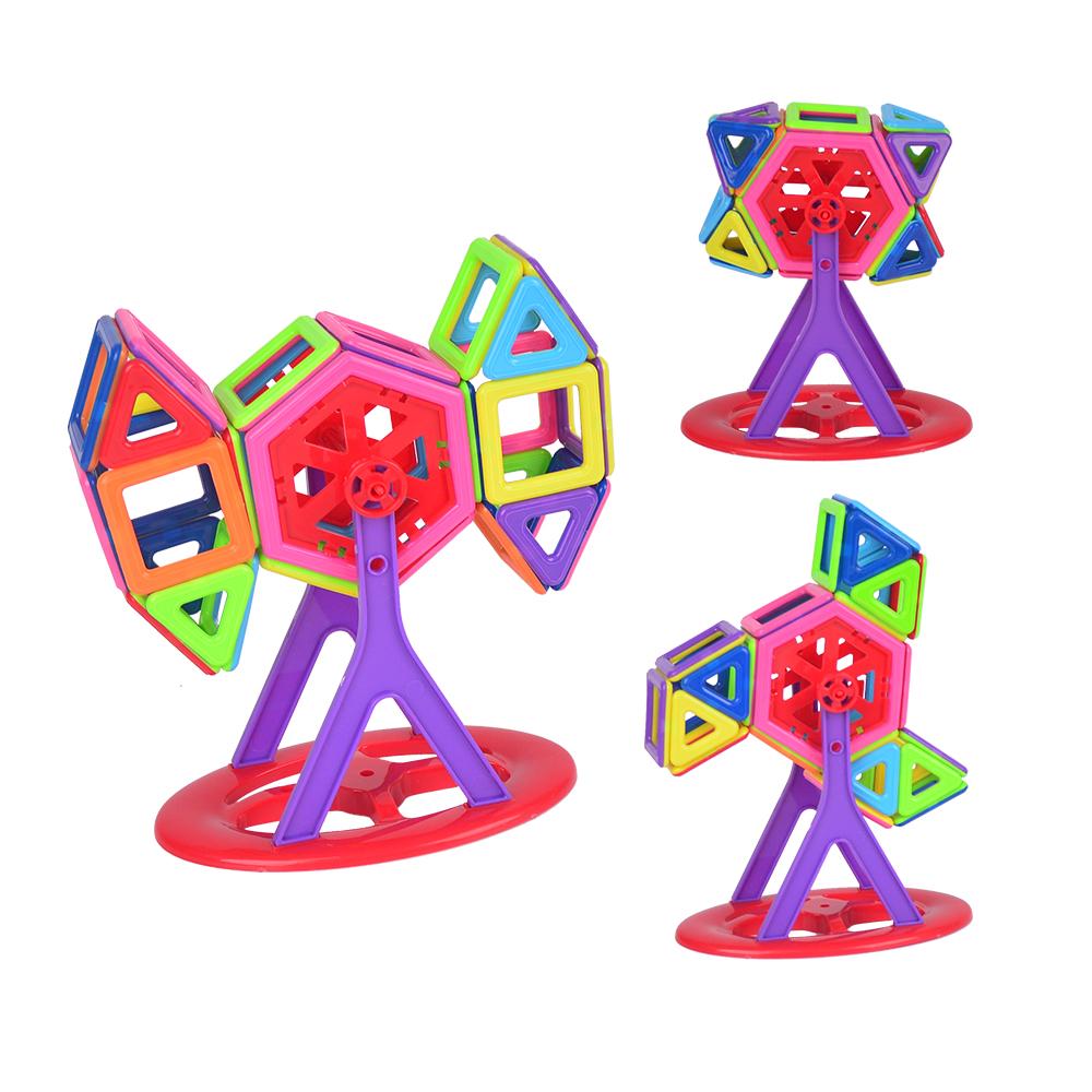 compre 76 pcs alegria mags marca mini brinquedos de constru o magn tico blocos. Black Bedroom Furniture Sets. Home Design Ideas