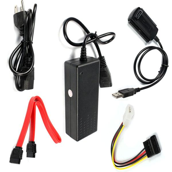 New USB 2.0 to IDE SATA S-ATA 2.5 3.5 Hard Drive HD HDD Converter Adapter Cable(China (Mainland))