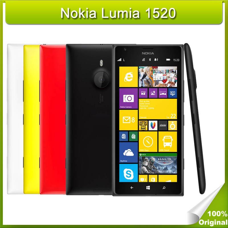 Refurbished Original Nokia Lumia 1520 Unlocked Smartphones Windows Phone Quad Core 2 2 GHz Cell Phone