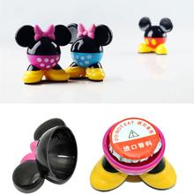 4 Color Mickey Car Perfume Stand Car Air Freshener Cartoon Car Aromatizer Lemon Solid Perfume Car Scent(China (Mainland))