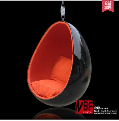 2016 Hot Selling Fashion Leisure Eye Ball Chair Red Color(China (Mainland))