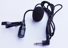 High-quality Metal clip Portable Mini 3.5mm Tie Lapel Lavalier Clip Microphone for audio amplifier Lectures Teaching