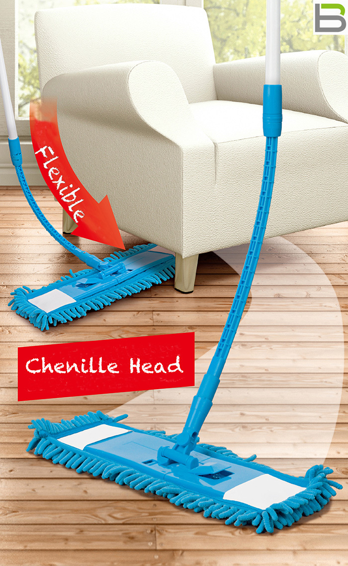 Flexible Mop Flat Floor Chenille Mop Household Cleaning Free Shipping(China (Mainland))