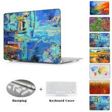 Para A Apple Air 11 13 Cristal Duro Caso Laptop Para Mac Pro 13 15/Pro 13 15 Com Retina Impressão Pintura A Óleo Capa Para Macbook 12''(China (Mainland))