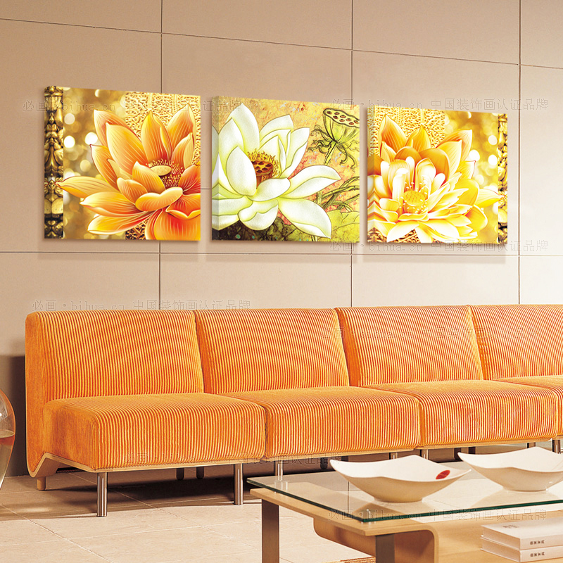 Coocart colorful flowers frameless print canvas TA5018(China (Mainland))