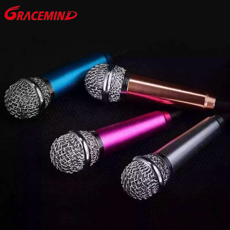 Mini Handheld Karaok Microphone with Single Directivity 3.5mm Plug for Cellphones PC and laptop(China (Mainland))