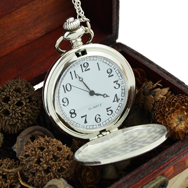 Silver Color Classic Elegant Concise Quartz Pocket Watch Wholesale Price Fashion Jewelry(China (Mainland))