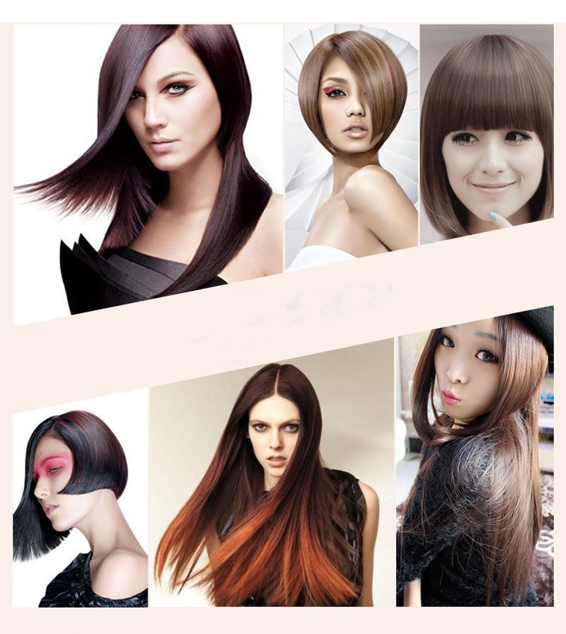 40pcs Brush Hair Straightener Comb Irons Come With LCD Display Electric Straight Hair Comb Straightening Styling Tool