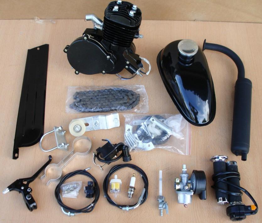 Black 2 Stroke 49cc 50cc Bicycle Engine Kits For Motorized