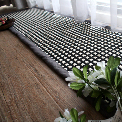 400*2100mm Japanese high-grade cotton rugs mats hand-woven linen kitchen living room alfombras absorbent mats are easy to clean(China (Mainland))