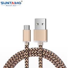 Suntaiho Micro USB cable 2A Fast Charging and 8pin USB&Type-c 1m/2m Data charger for iPhone 6 6s Plus 5s/Samsung/Xiaomi/Android(China (Mainland))