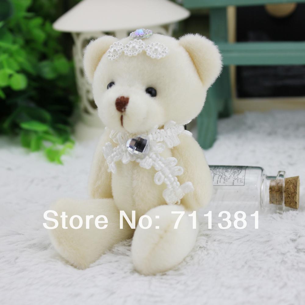 12pcs/lot Small Joint Bear!!!Little Bear Stuffed Animal,Nice Quality Plush Animals,Wedding Plush Stuffed Toys(China (Mainland))