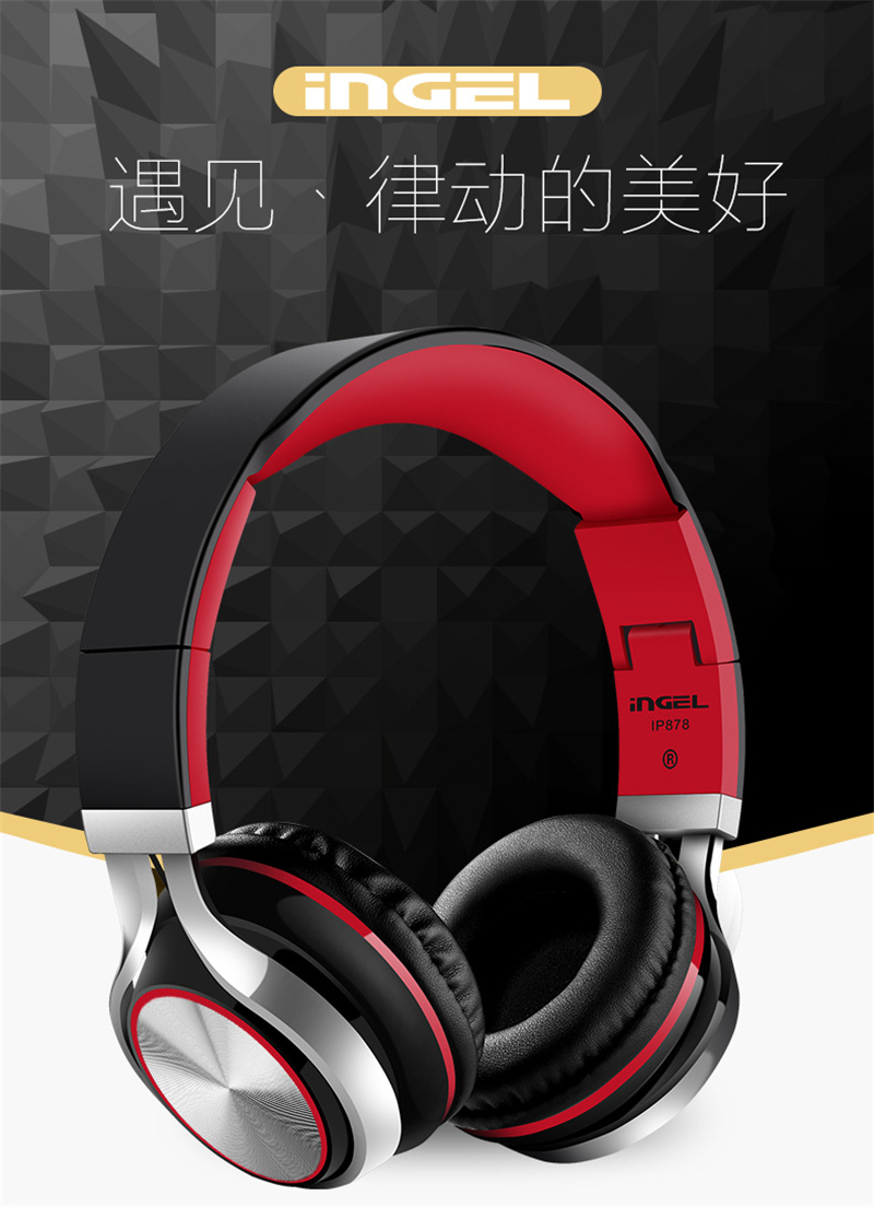 INGEL Foldable On-Ear Headphone 3.5MM Stereo Sound Bass Headset Gaming Headphones For PC Gamer With Mic For Xiomi PC Smartphone