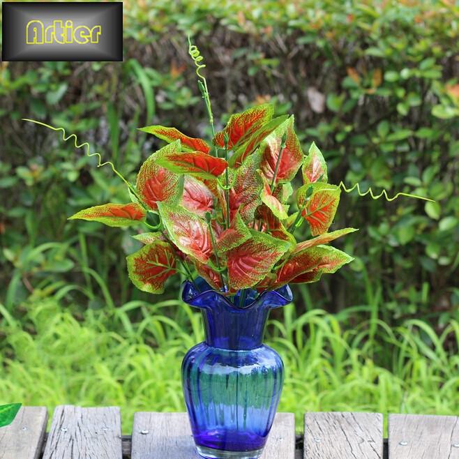 Natural engineering background decoration simulation red perilla leaves bonsai plants(China (Mainland))