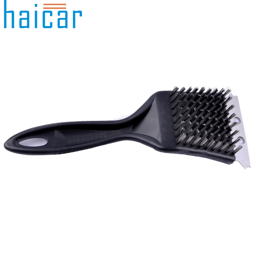 Haicar Top Grand Summer Stainless Steel BBQ Cleaning Brush Churrasco Grill Barbecue Grill Cleaner bbq Accessories Cooking Tools(China (Mainland))
