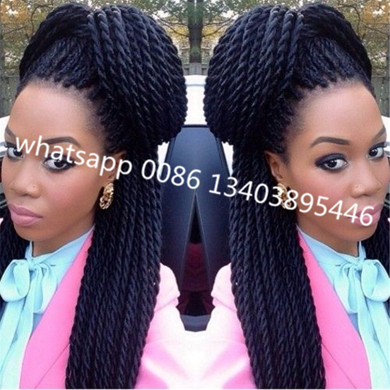 Crochet Hair Packs : Hair Senegalese Twist Braids Marley Hair 24 100g/pack Twist Crochet ...