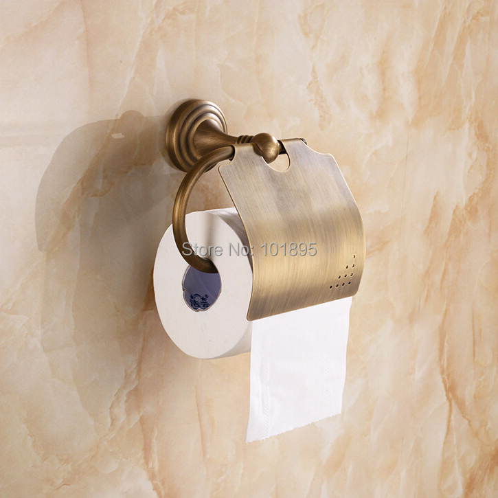Retail Luxury Brass Antique Paper Holder Bronze Color