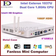 Intel Celeron 1037U Dual Core 1.8Ghz CPU Mini PC thin client, barebone, 1080P video, USB 3.0 port, HDMI, VGA