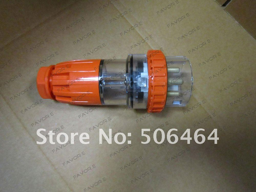 32A 4pin 3 phase straight electric plug IP66  56P432<br><br>Aliexpress