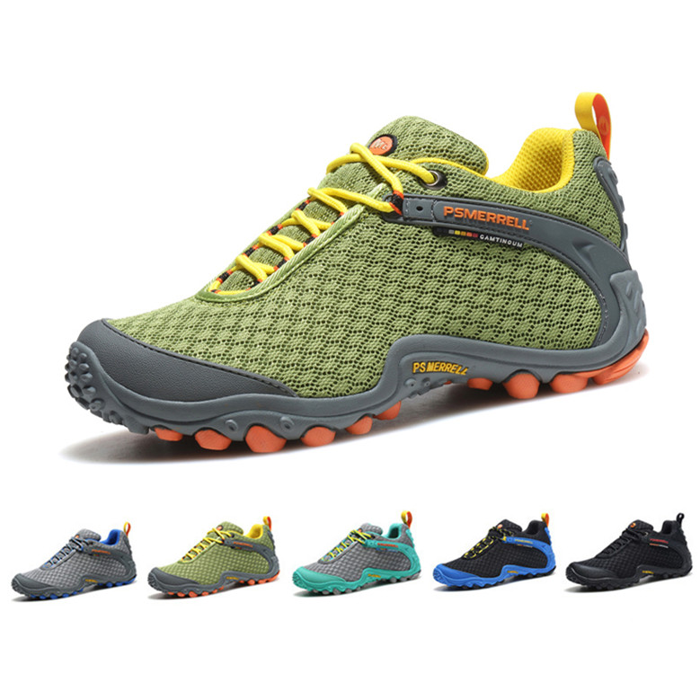 Men hiking shoes 2015 Brand Outdoor Sports Shoes Men Walking Shoes anti-slip breathable mesh fabric Trekking Shoes 6 Color