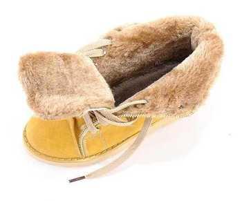 size 34-43 new fashion faux fur inside female low heel flat ankle women boots woman autumn winter shoes #Y1010618F