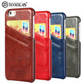 Cover Case For iPhone 7 7 Plus Phone Wax PU Leather With Card Holder Back Cover